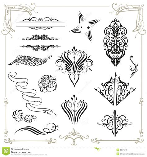 Calligraphy Decorations by Calligraphy Decoration Royalty Free Stock Photo Image