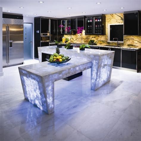 Kitchen Countertops Miami White Quartz Countertop Semi Precious Modern Miami
