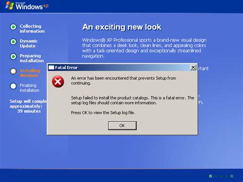 xp setup error view topic windows longhorn build 3718 install problem