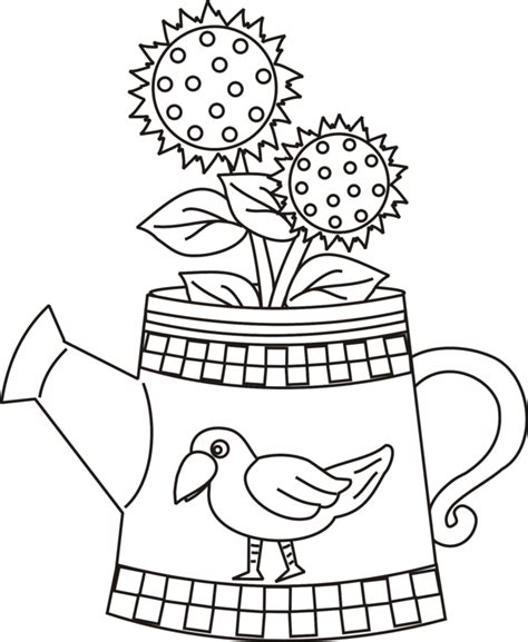 Watering Can Coloring Page Coloring Home Can Coloring Page