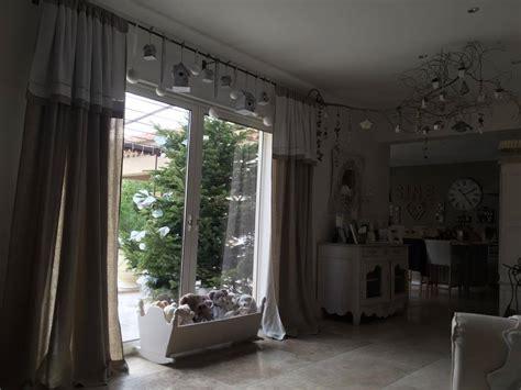 agréable Voilage Salle A Manger #3: Rideau-romantique-shabby-chic-lin-et-drap-ancien-monogramme-lettre-brod%C3%A9-rideau-salon-salle-%C3%A0-manger.jpg