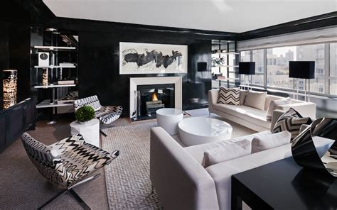 Modern Black Living Room by Black Lacquered Walls Living Room Haus Interior