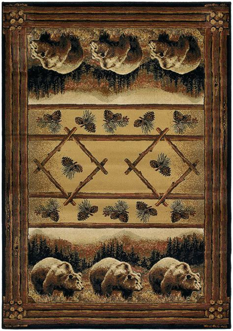 grizzly rug with designer genesis hautman grizzly pines 532 54217 area rug by united weavers carpetmart