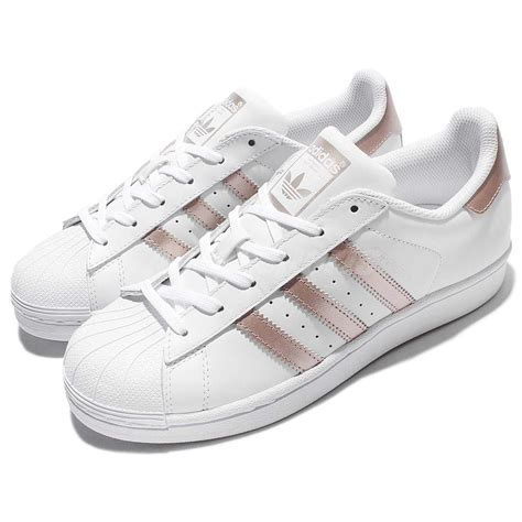 womens gold sneakers adidas originals superstar w white gold classic