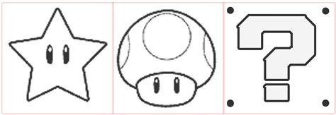 mario question block coloring page swiss army artist 8 bit video game felt toys tutorial