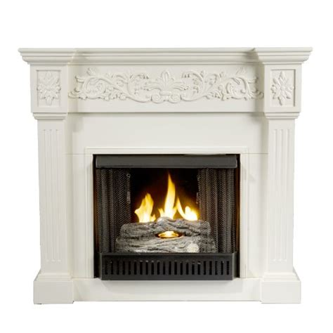 sei calvert gel fuel fireplace ivory southern