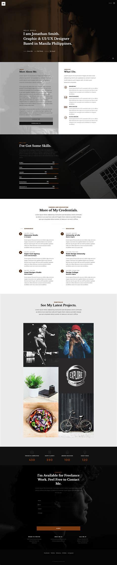 howdy free responsive html5 bootstrap portfolio template
