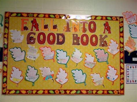 Quot Fall Into A Good Book Quot Using Leaf Writing Templates Is A Great Way Create A Fall Bulletin Board Fall Into A Book Template