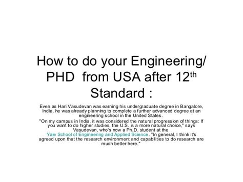 After Mba Phd Courses by How To Do Your Engineering Study Mba Phd From Usa