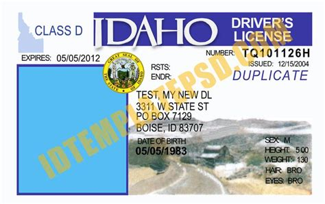 oregon id card template 17 best images about novelty psd usa driver license