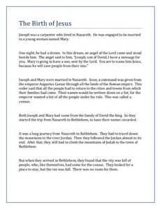 image gallery nativity story printable