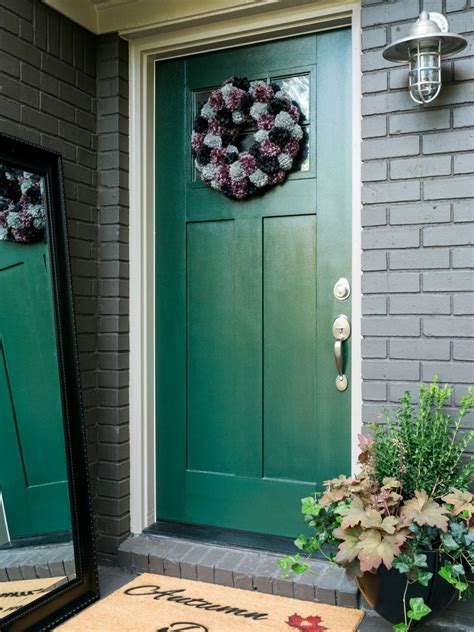 diy fall spruce up of your front door with color diy 12 ways to spruce up your front porch for fall hgtv