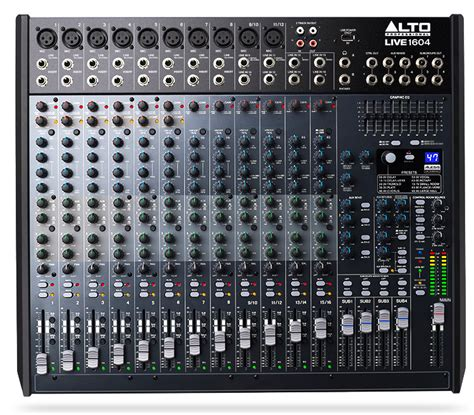 Mixer Alto 16 Channel alto professional live 1604 16 channel 4 mixer with usb interface and built in dsp effects