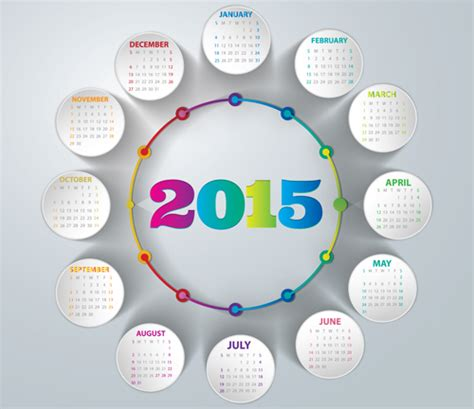 calendar design 2015 vector free download creative calendar 2015 vector design set 02 vector