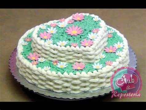 tortas decoradas en forma de canasta torta canasta de flores youtube