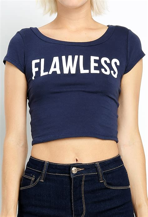 Flawless Top by Flawless Top Shop Graphic Tops At Papaya Clothing