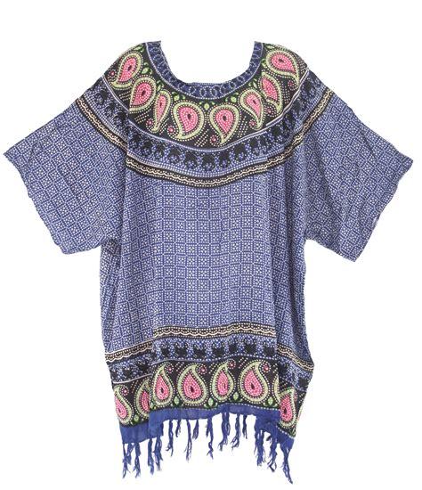 Tunik Blouse Batik Rahayu blue batik blouse tunic kaftan caftan top plus size 1x 2x 3x 4x 22