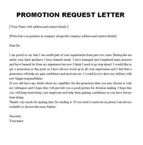 promotional letter template promotion request letter free sle letters