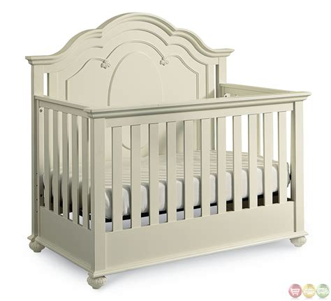 Crib White Convertible Antique White Traditional Convertible Crib