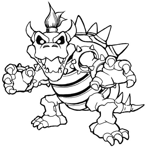bowser coloring bowser coloring pages dry bowser mario