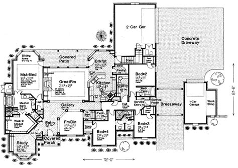 floor plans for 1 story homes single story country house plans custom single story house