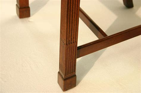 Straight Leg Chippendale Dining Chairs with Fluted Legs