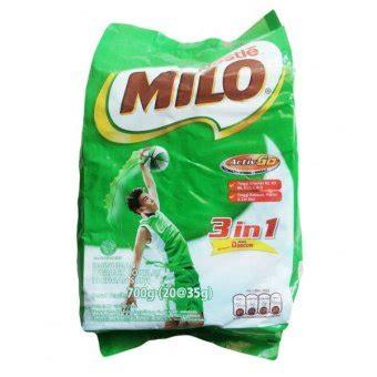 Milo Activ Go Gratis 10psc Gratis1 nestle milo 3 in 1 active go 700gr 20x35gr lazada