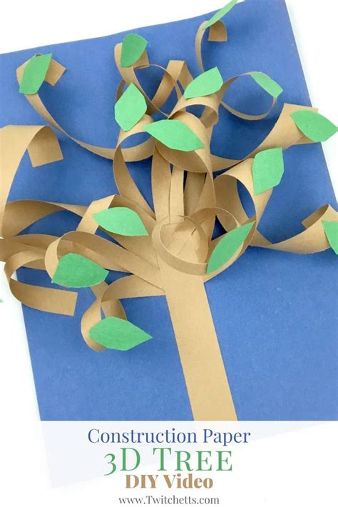 3d Crafts With Paper - construction paper 3d tree construction paper