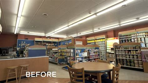 benjamin moore stores benjamin moore paint store gets cree led lighting makeover