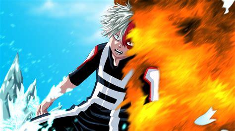 Shouto Todoroki Ice and Fire My Hero  Wallpaper #35378
