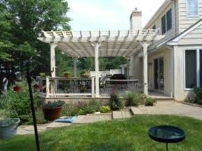 Photos Of Pergolas On Decks by Deck With Pergolas Deck Pergolas In Lancaster Amp Chester