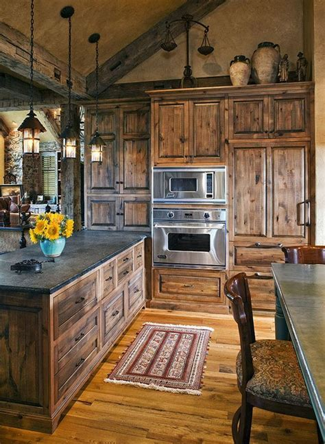 rustic cabin kitchen cabinets rustic kitchen cabin fever pinterest
