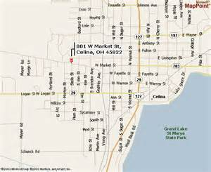 Celina Ohio Map by Celina