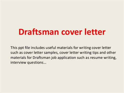 Mechanical Drafter Cover Letter by Draftsman Cover Letter