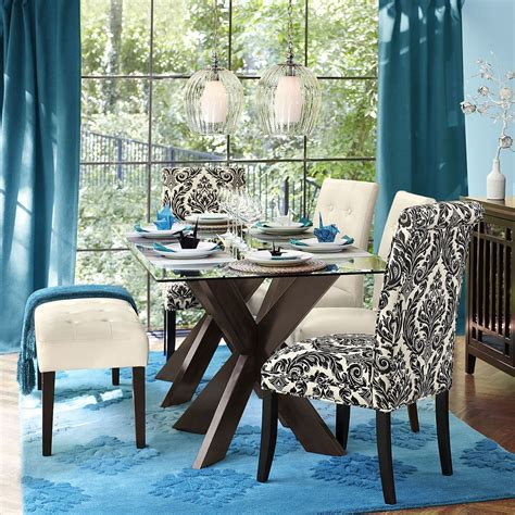simon espresso  dining table base glass dining table