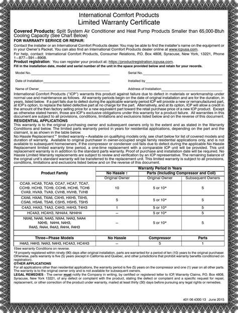 part warrant template warranty certificate templates free premium