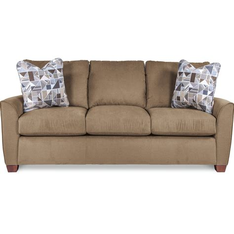 premier sofas la z boy amy casual sofa with premier comfortcore cushions