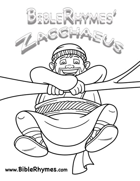 Bible Story Coloring Book by Coloring Book Cover Picture Biblerhymes Zacchaeus
