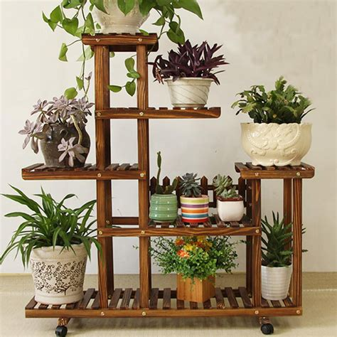 Stand Planter new pine wooden plant stand indoor outdoor garden planter