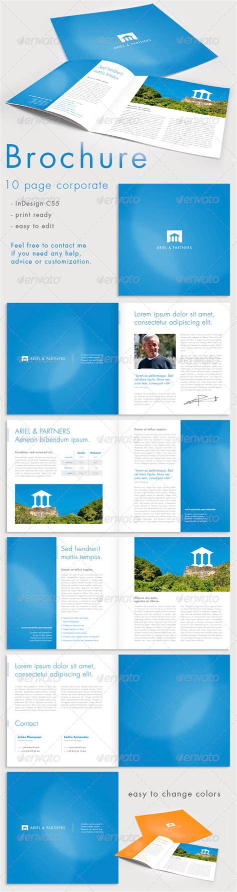 10 page brochures foster printing 10 page corporate brochure graphicriver