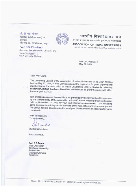 Punjab College Letterhead Index Singhaniauniversity Co In