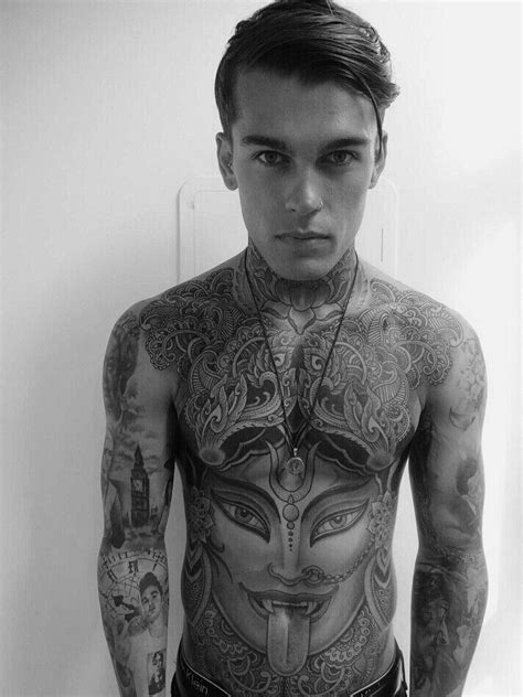 tattoo full body model stephen james tattoo you pinterest
