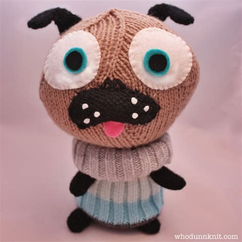 pug knitting pattern whodunnknit 187 free pattern knitted polar pug