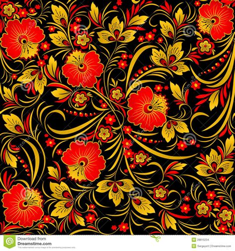 russian pattern art khokhloma stock photo image of background folk fabric