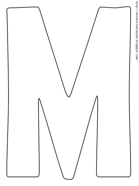 moldes de letra m how to draw letra m