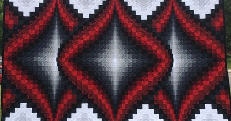 black and white bargello quilt pattern pieced and quilted by edna trunt pattern is argyle from