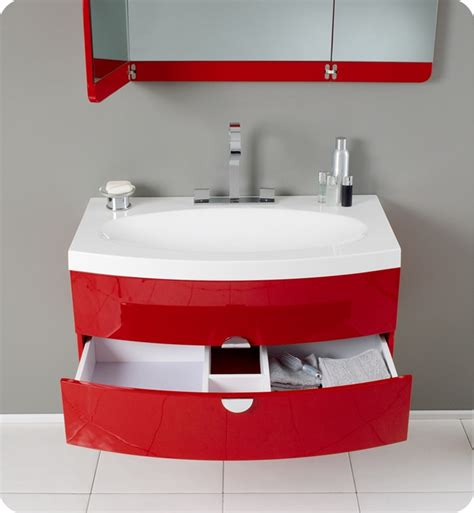 red bathroom vanity fresca energia red modern bathroom vanity
