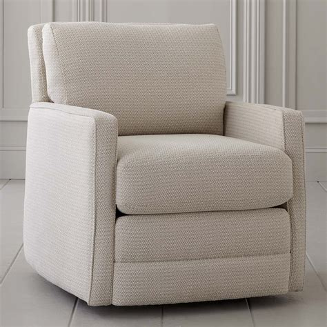 Fabric Living Room Chairs Swivel Chair Bishop Living Room Bassett Furniture