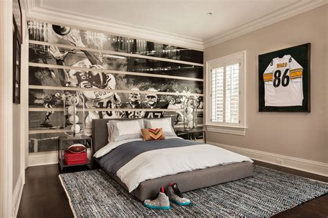 tidy boys teenage bedroom images sporty masculine stuffs