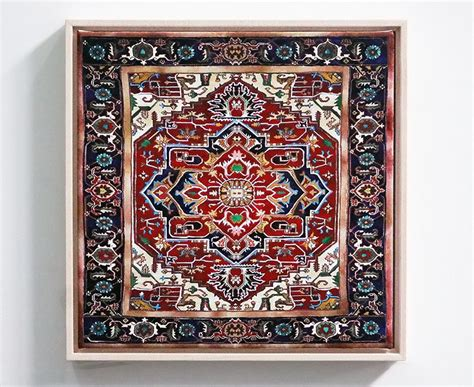 designboom rug jason seife s painted persian carpets are impossibly ornate